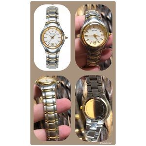 Bulova two-tone stainless steel ladies watch